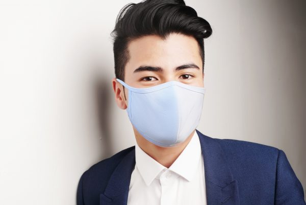 Adult-Men-Women-Solid-Color-White-Polyester-Cotton-Face-Mask